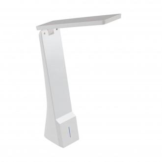 EGLO 97044 | La-Seca Eglo stolna svjetiljka 26cm sa tiristorski dodirnim prekidačem jačina svjetlosti se može podešavati, sa podešavanjem temperature boje, elementi koji se mogu okretati, USB utikač 1x LED 170lm 3000 <-> 5000K bijelo
