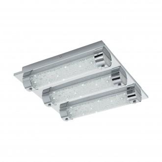 EGLO 97056 | Tolorico Eglo zidna, stropne svjetiljke svjetiljka 3x LED 3000lm 4000K IP44 krom, prozirno