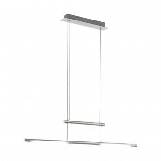 EGLO 97062 | Flagranera Eglo visilice svjetiljka balansna - ravnotežna, sa visinskim podešavanjem 2x LED 1400lm 3000K poniklano mat, bijelo