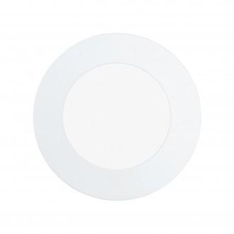 EGLO 97112 | Fueva-RW Eglo ugradbene svjetiljke LED panel, Relax & Work s impulsnim prekidačem jačina svjetlosti se može podešavati, sa podešavanjem temperature boje Ø120mm 1x LED 760lm 2700 - 4000K bijelo