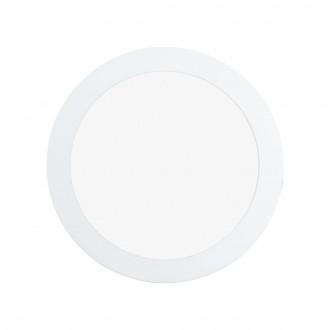 EGLO 97113 | Fueva-RW Eglo ugradbene svjetiljke LED panel, Relax & Work s impulsnim prekidačem jačina svjetlosti se može podešavati, sa podešavanjem temperature boje Ø170mm 1x LED 1300lm 2700 - 4000K bijelo