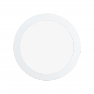 EGLO 97114 | Fueva-RW Eglo ugradbene svjetiljke LED panel, Relax & Work s impulsnim prekidačem jačina svjetlosti se može podešavati, sa podešavanjem temperature boje Ø225mm 1x LED 2200lm 2700 - 4000K bijelo