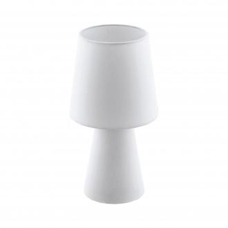 EGLO 97121 | Carpara Eglo stolna svjetiljka 34cm sa prekidačem na kablu 2x E14 bijelo