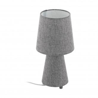 EGLO 97122 | Carpara Eglo stolna svjetiljka 34cm sa prekidačem na kablu 2x E14 sivo