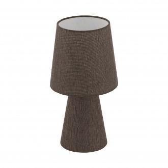 EGLO 97123 | Carpara Eglo stolna svjetiljka 34cm sa prekidačem na kablu 2x E14 smeđe