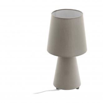 EGLO 97124 | Carpara Eglo stolna svjetiljka 34cm sa prekidačem na kablu 2x E14 taupe