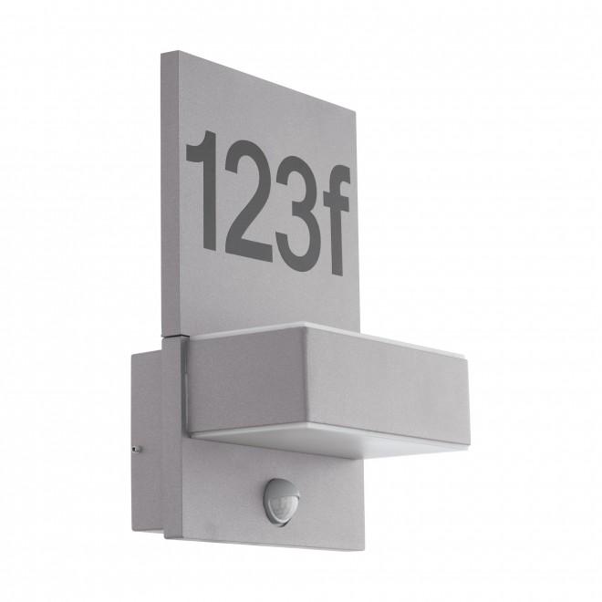 EGLO 97127 | Ardiano Eglo zidna svjetiljka sa senzorom 2x LED 1200lm 3000K IP44 srebrno, bijelo