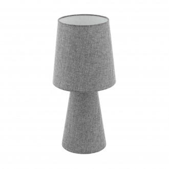 EGLO 97132 | Carpara Eglo stolna svjetiljka 47cm sa prekidačem na kablu 2x E27 sivo