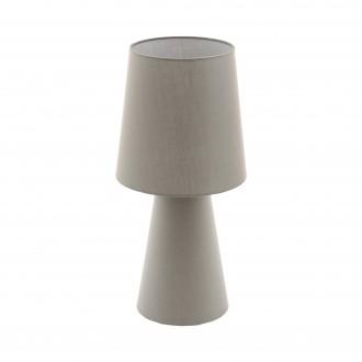EGLO 97134 | Carpara Eglo stolna svjetiljka 47cm sa prekidačem na kablu 2x E27 taupe