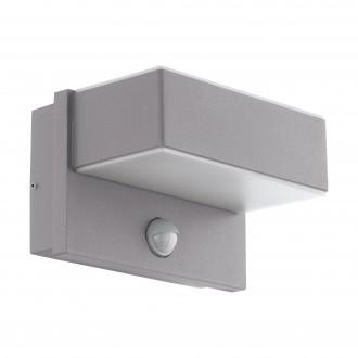 EGLO 97159 | Azzinano Eglo zidna svjetiljka sa senzorom, svjetlosni senzor - sumračni prekidač 2x LED 1200lm 3000K IP44 srebrno, bijelo
