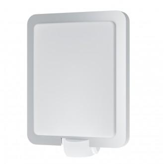 EGLO 97218 | Mussotto Eglo zidna svjetiljka sa senzorom 1x E27 IP44 plemeniti čelik, čelik sivo, bijelo