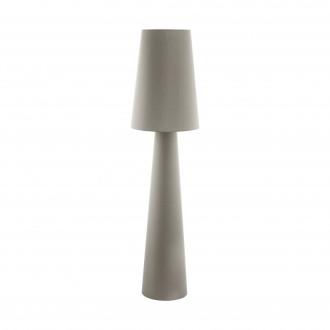 EGLO 97234 | Carpara Eglo podna svjetiljka 173cm sa nožnim prekidačem 2x E27 taupe