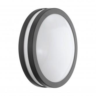 EGLO 97237 | EGLO-Connect-Locana Eglo zidna, stropne svjetiljke smart rasvjeta okrugli jačina svjetlosti se može podešavati 1x LED 1400lm 3000K IP44 antracit, bijelo