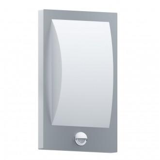 EGLO 97238 | Verres Eglo zidna svjetiljka sa senzorom 1x E27 IP44 plemeniti čelik, čelik sivo, bijelo