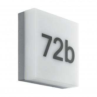 EGLO 97289   Cornale Eglo zidna svjetiljka svjetlosni senzor - sumračni prekidač 1x LED 820lm 3000K IP44 antracit, bijelo