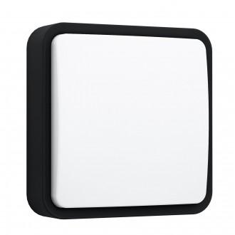 EGLO 97295 | EGLO-Connect-Piove Eglo zidna, stropne svjetiljke smart rasvjeta četvrtast jačina svjetlosti se može podešavati 1x LED 1400lm 3000K IP44 crno, bijelo