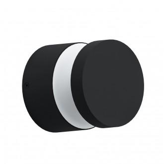 EGLO 97303 | Melzo Eglo zidna, stropne svjetiljke svjetiljka 1x LED 950lm 3000K IP44 crno, prozirna, bijelo