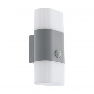 EGLO 97313 | Favria1 Eglo zidna svjetiljka sa senzorom 2x LED 1200lm 3000K IP44 srebrno, bijelo