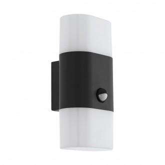 EGLO 97314 | Favria1 Eglo zidna svjetiljka sa senzorom 2x LED 1200lm 3000K IP44 antracit, bijelo