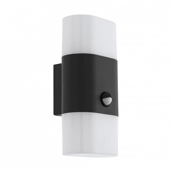 EGLO 97314   Favria1 Eglo zidna svjetiljka sa senzorom 2x LED 1200lm 3000K IP44 antracit, bijelo