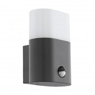 EGLO 97316 | Favria Eglo zidna svjetiljka sa senzorom 1x LED 1200lm 3000K IP44 antracit, bijelo