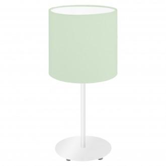 EGLO 97382 | Eglo-Pasteri-Pastel-LG Eglo stolna svjetiljka 40cm sa prekidačem na kablu 1x E14 pastelno zelena, bijelo