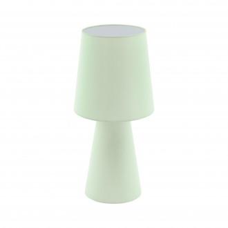 EGLO 97431 | Carpara Eglo stolna svjetiljka 47cm sa prekidačem na kablu 2x E27 pastel svijetlo zelena