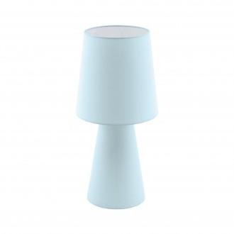EGLO 97432 | Carpara Eglo stolna svjetiljka 47cm sa prekidačem na kablu 2x E27 pastel svijetlo plava