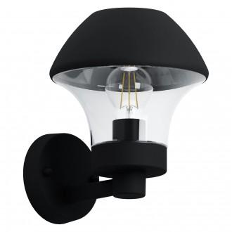 EGLO 97446 | EGLO-Connect-Verlucca Eglo zidna smart rasvjeta 1x E27 806lm 3000K IP44 crno, prozirna