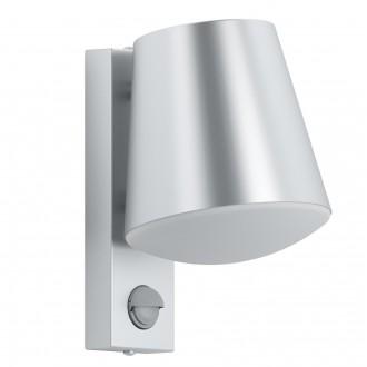 EGLO 97453 | Caldiero Eglo zidna svjetiljka sa senzorom 1x E27 IP44 plemeniti čelik, čelik sivo, bijelo