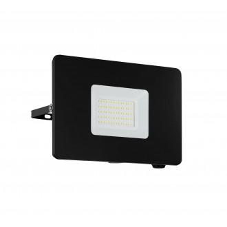 EGLO 97458 | Faedo Eglo reflektor svjetiljka četvrtast elementi koji se mogu okretati 1x LED 4800lm 4000K IP65 crno, prozirna