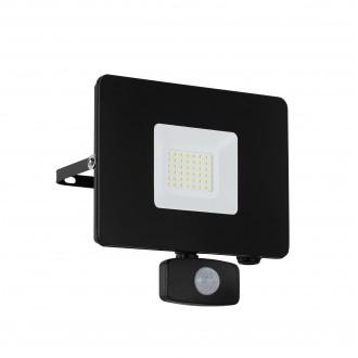 EGLO 97462 | Faedo Eglo reflektor svjetiljka sa senzorom, svjetlosni senzor - sumračni prekidač elementi koji se mogu okretati 1x LED 2750lm 4000K IP44 crno, prozirna