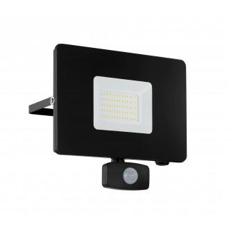 EGLO 97463 | Faedo Eglo reflektor svjetiljka sa senzorom, svjetlosni senzor - sumračni prekidač elementi koji se mogu okretati 1x LED 4800lm 4000K IP44 crno, prozirna