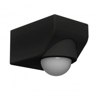 EGLO 97467 | Eglo sa senzorom PIR 360° svjetlosni senzor - sumračni prekidač IP44 crno