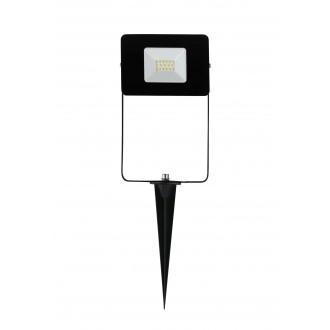 EGLO 97471 | Faedo Eglo reflektor ubodne svjetiljke svjetiljka vilasti utikač - bez utikača elementi koji se mogu okretati 1x LED 900lm 4000K IP44 crno, prozirno