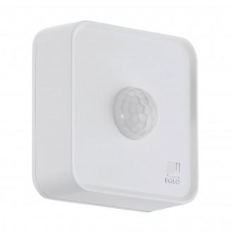 EGLO 97475 | Eglo sa senzorom PIR 120° smart rasvjeta četvrtast baterijska/akumulatorska IP44 bijelo