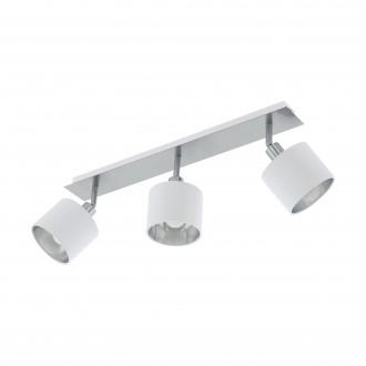 EGLO 97534 | Valbiano Eglo spot svjetiljka elementi koji se mogu okretati 3x E14 poniklano mat, bijelo, srebrno