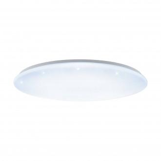 EGLO 97543 | GironS-LED Eglo stropne svjetiljke svjetiljka okrugli daljinski upravljač jačina svjetlosti se može podešavati, sa podešavanjem temperature boje 1x LED 7800lm 2700 <-> 5000K bijelo, učinak kristala