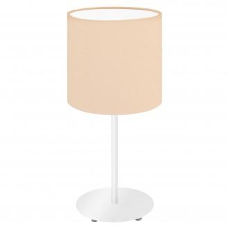 EGLO 97565 | Eglo-Pasteri-Pastel-A Eglo stolna svjetiljka 40cm sa prekidačem na kablu 1x E14 pastel kajsija, bijelo