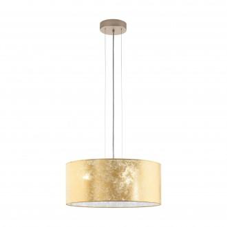EGLO 97644 | Viserbella Eglo visilice svjetiljka okrugli 3x E27 šampanjac žuto, zlatno