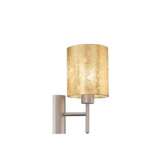 EGLO 97645 | Viserbella Eglo zidna svjetiljka okrugli s prekidačem 1x E27 šampanjac žuto, zlatno