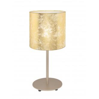 EGLO 97646 | Viserbella Eglo stolna svjetiljka okrugli 40cm sa prekidačem na kablu 1x E27 šampanjac žuto, zlatno