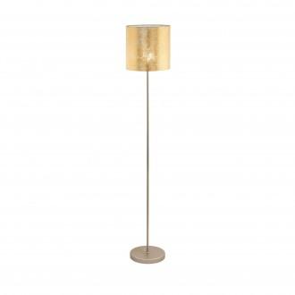 EGLO 97647 | Viserbella Eglo podna svjetiljka okrugli 158,5cm sa nožnim prekidačem 1x E27 šampanjac žuto, zlatno
