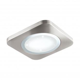 EGLO 97663 | Puyo-S Eglo zidna, stropne svjetiljke svjetiljka 1x LED 2500lm 3000K poniklano mat, bijelo, učinak kristala