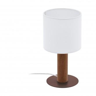 EGLO 97681   Concessa Eglo stolna svjetiljka 30cm sa prekidačem na kablu 1x E27 smeđe, bijelo