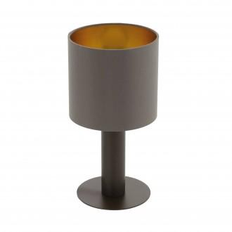 EGLO 97686 | Concessa Eglo stolna svjetiljka 30cm sa prekidačem na kablu 1x E27 kapuchino, zlatno