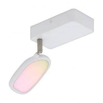 EGLO 97691 | EGLO-Connect-Palombare Eglo spot smart rasvjeta jačina svjetlosti se može podešavati, sa podešavanjem temperature boje, promjenjive boje, elementi koji se mogu okretati 1x LED 600lm 2700 <-> 6500K bijelo