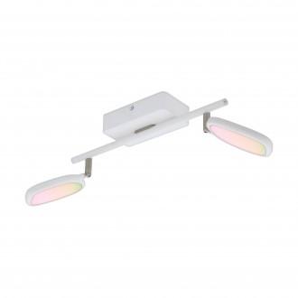 EGLO 97692 | EGLO-Connect-Palombare Eglo spot smart rasvjeta jačina svjetlosti se može podešavati, sa podešavanjem temperature boje, promjenjive boje, elementi koji se mogu okretati 2x LED 1200lm 2700 <-> 6500K bijelo