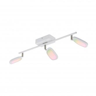 EGLO 97693 | EGLO-Connect-Palombare Eglo spot smart rasvjeta jačina svjetlosti se može podešavati, sa podešavanjem temperature boje, promjenjive boje, elementi koji se mogu okretati 3x LED 1800lm 2700 <-> 6500K bijelo