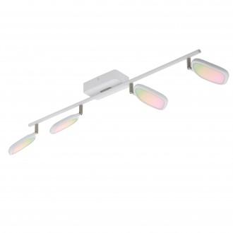 EGLO 97694 | EGLO-Connect-Palombare Eglo spot smart rasvjeta jačina svjetlosti se može podešavati, sa podešavanjem temperature boje, promjenjive boje, elementi koji se mogu okretati 4x LED 2400lm 2700 <-> 6500K bijelo